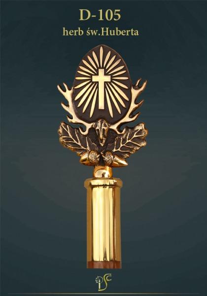 Krzyż św.Huberta patron myśliwych i leśników