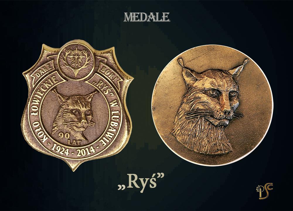 """medal dla KŁ """"Ryś"""""""