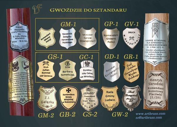 Gwoździe pamiątkowe dla mundurowych wymiary: G1 - od 25-34mm G2 - od 35-42mm