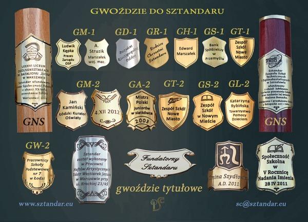 Gwoździe pamiątkowe dla szkół wymiary: G1 - od 25-34mm G2 - od 35-42mm