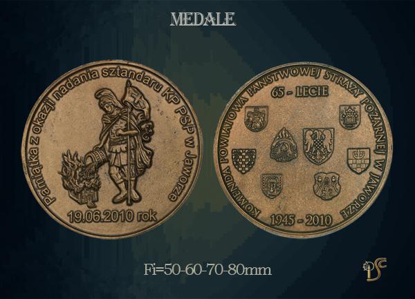 Medal 65 lecia Ochotniczej Straży Pożarnej w Lusinie