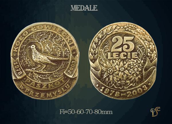 Medal Koła Łowieckiego Paszkot w Przemyślu