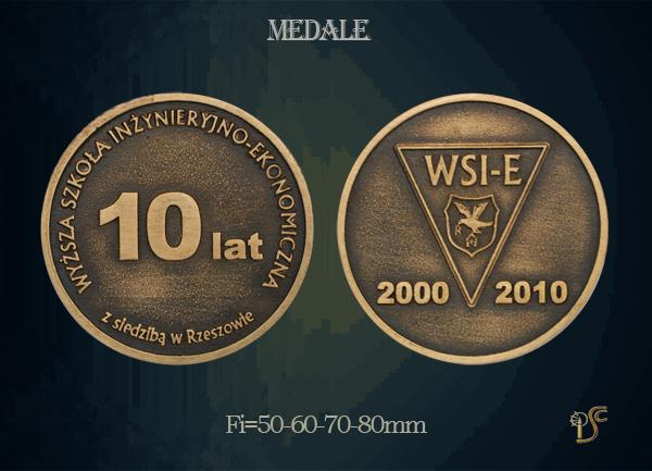 Medal 10 lecia Wyższej Szkoły Inżynieryjno-Ekonomicznej z siedzibą w Rzeszowie