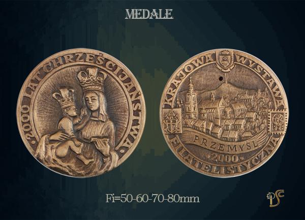 Medal 200 lat Chrześcijaństwa Krajowa Wystawa Filatelistyczna 2000