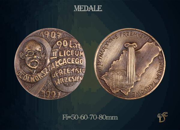 Medal 90-lecia II Liceum Ogólnokształcącego w Przemyślu 1997