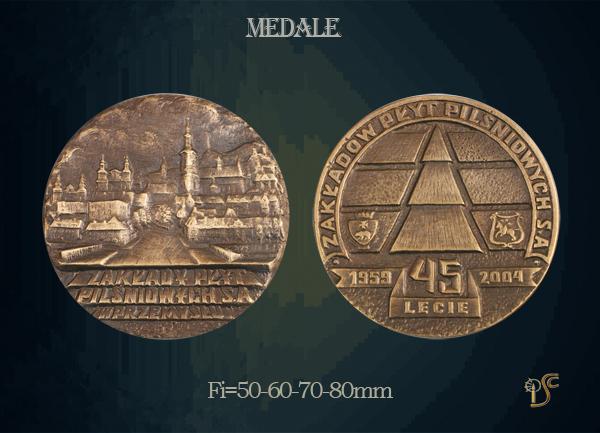 Medal 45-lecia Zakładów Płyt Pilśniowych